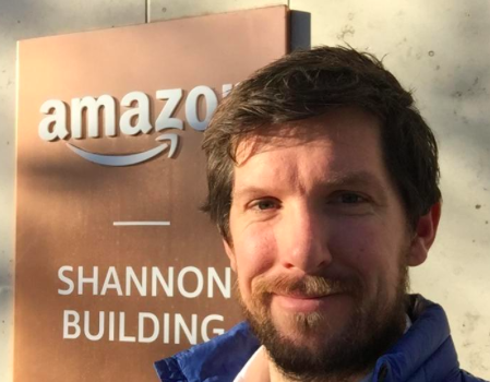 CEO Justin of Frequency Communications Ltd. went to Amazon headquarters in Shannon Ireland